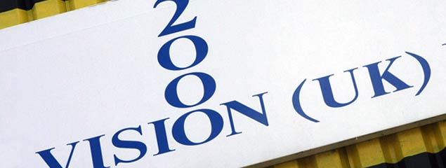 Vision 2000 company sign